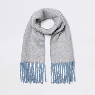 River Island Light blue marl fluffy scarf