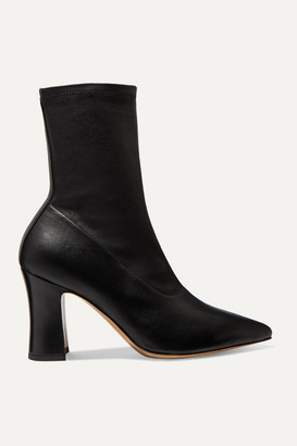 Dries Van Noten Leather Sock Boots - Black