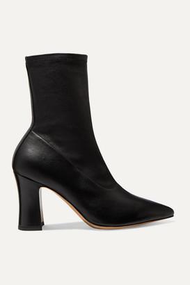 Dries Van Noten Leather Sock Boots - Black