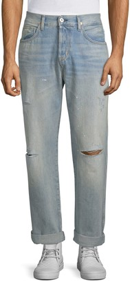 Hudson Jeans Easy Relaxed-Fit Ripped Jeans