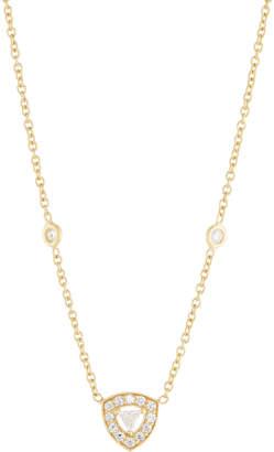 Penny Preville 18k Trillion Diamond Pendant Necklace