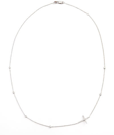 roberto coin integrated diamond cross necklace white gold   shopstyle
