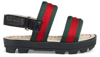 Gucci Toddler leather and Web sandal