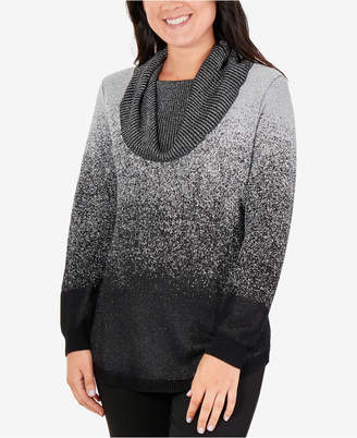 NY Collection Cowl-Neck Sweater