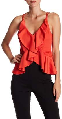 Do & Be Do + Be Cropped Strappy Ruffle Shirt