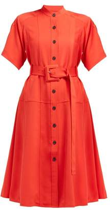 Proenza Schouler Belted Oxford Shirtdress - Womens - Orange