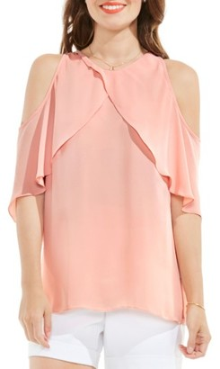 Women's Vince Camuto Cold Shoulder Ruffled Blouse $79 thestylecure.com
