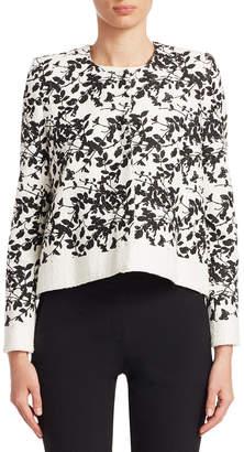 Carolina Herrera Flower Printed Cropped Jacket