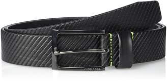 HUGO BOSS Boss Green Men's Titching Leather Belt