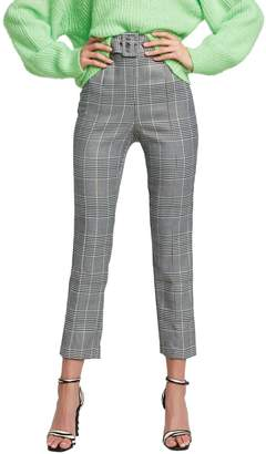 Bardot Belted Check Pants