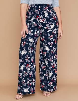 Lane Bryant Allie Wide Leg Pant - Floral Crepe