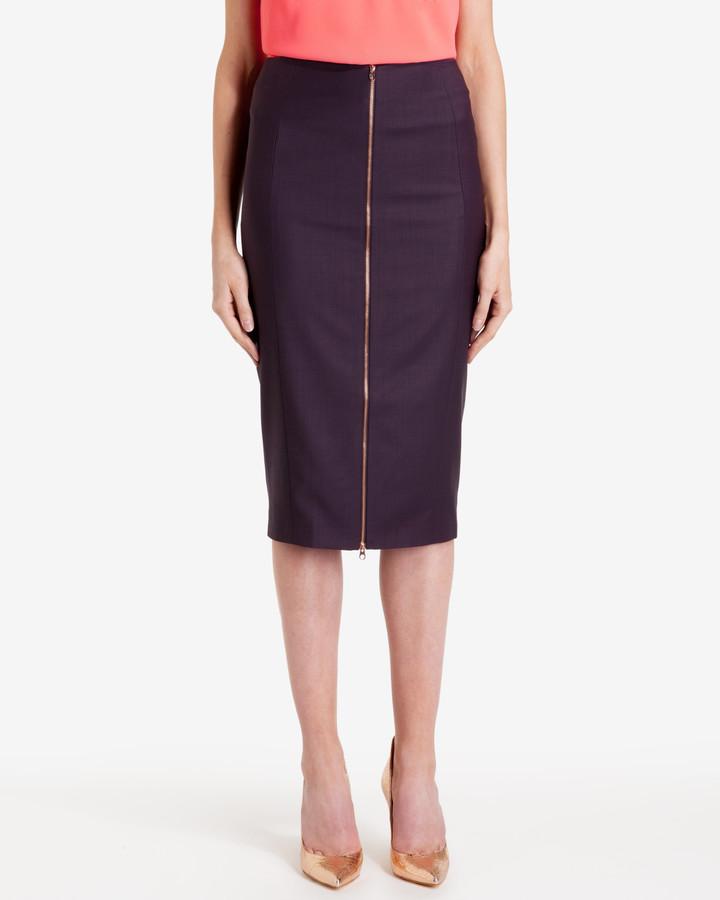 ted baker zip front suit pencil skirt shopstyle co uk