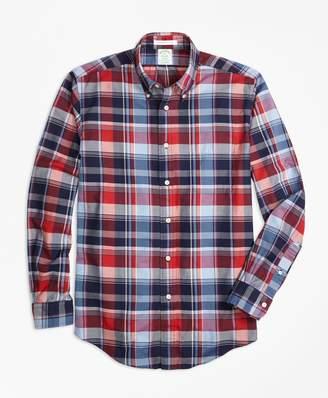 Brooks Brothers Milano Fit Multi Madras Sport Shirt