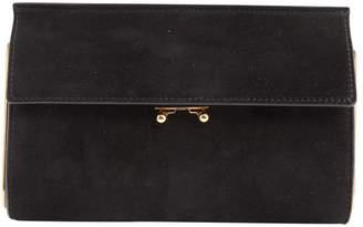 Marni Black Suede Clutch Bag