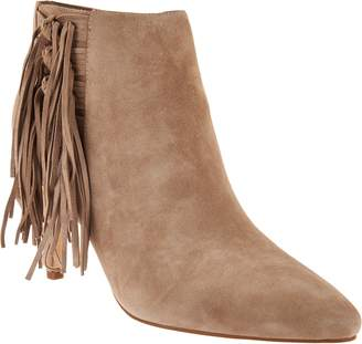 Marc Fisher Leather or Suede Fringe Ankle Boots - Tune