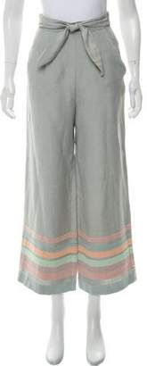 Mara Hoffman High-Rise Wide-Leg Pants