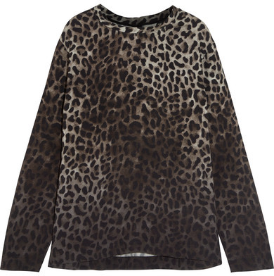 TOM FORD - Leopard-print Crepe De Chine Top - Leopard print