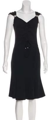 Blumarine Silk Knee-Length Dress