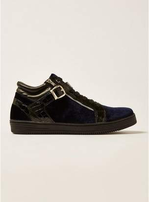 Topman Mens HOUSE OF HOUNDS Navy Griffin Mid Lace Boots