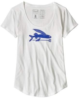 Patagonia Women's Flying Fish Organic Cotton Scoop T-Shirt