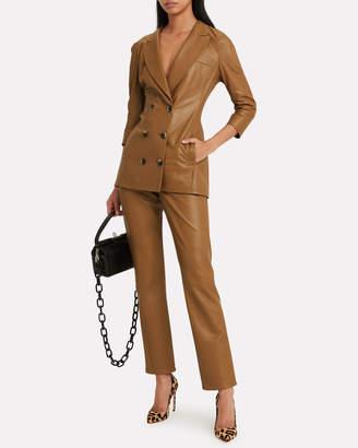 Zeynep Arcay Leather Cigarette Pants