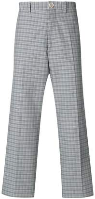 Marni high rise checked trousers