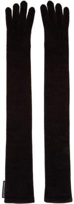 Alexander Wang Black Chenille Evening Gloves