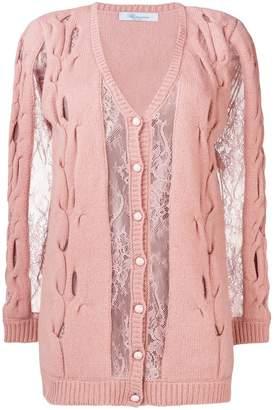 Blumarine lace detail cardigan