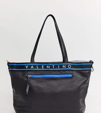 Mario Valentino Valentino By Valentino by black crosshatch branded tote bag