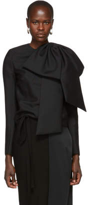 Givenchy Black Oversized Bow Blouse