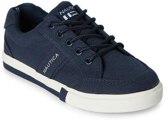 Nautica Kids Boys) Navy Hull Canvas Low-Top Sneakers