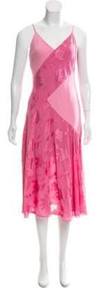 Prabal Gurung Sleeveless V-Neck Dress Pink Sleeveless V-Neck Dress