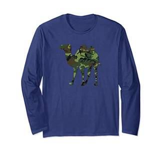 Camelflage Camouflage Funny Camel Flage Long Sleeve Tshirt