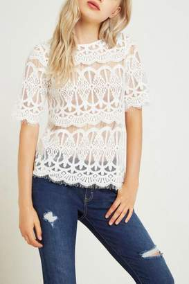 BCBGeneration White Lace Top