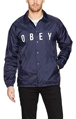 Obey Men's Anyway Coaches Jacket