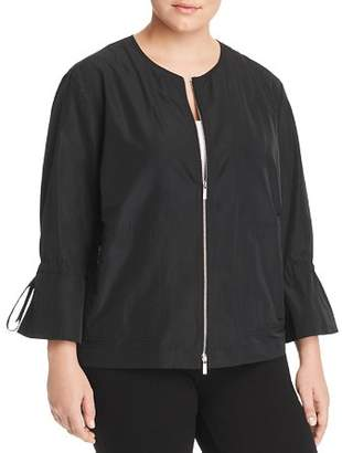 Lafayette 148 New York Plus Johnsie Lightweight Zip Jacket