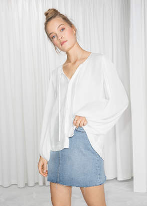 And other stories Billowy Neck Tie Blouse