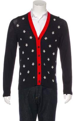 Gucci 2017 Bees and Stars Wool Cardigan