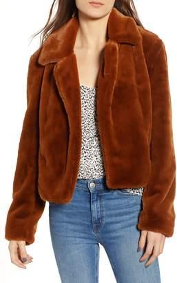 Blank NYC BLANKNYC Cropped Faux Fur Jacket