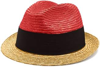 Prada Bi-colour straw hat