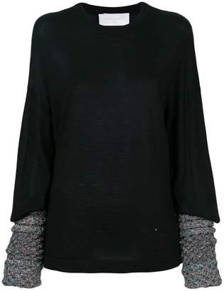 Esteban Cortazar contrast-cuff sweater