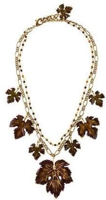 Dolce & Gabbana Enamel Leaf Collar Necklace