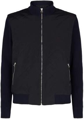 Hackett Bird Knit Bomber Jacket