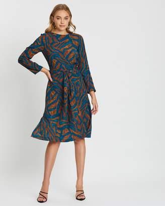 Closet London Cross Tie Detail A-Line Dress