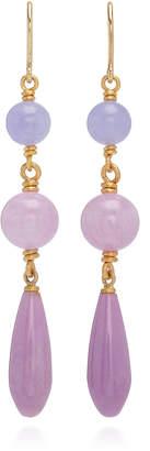 Mallary Marks Spun Sugar 18K Gold and Multi-Stone Earrings