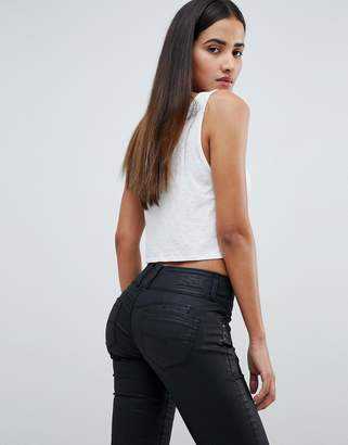 Salsa mystery bum sculpting high waist skinny jean with black coating