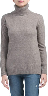 Cashmere Turtleneck Tunic With Side Slits