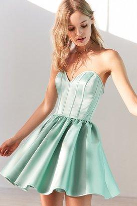 Kimchi Blue Corsetta Strapless Mini Dress $169 thestylecure.com