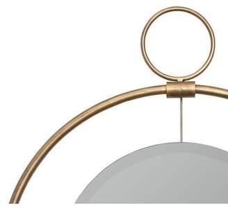 Brayden Studio Modern Beveled Round Accent Mirror