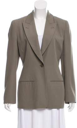 Calvin Klein Collection Peak-Lapel Button-Up Blazer